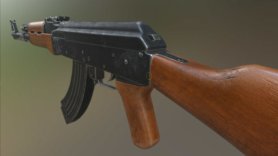 AK-47 royalty-free 3d model - Preview no. 8