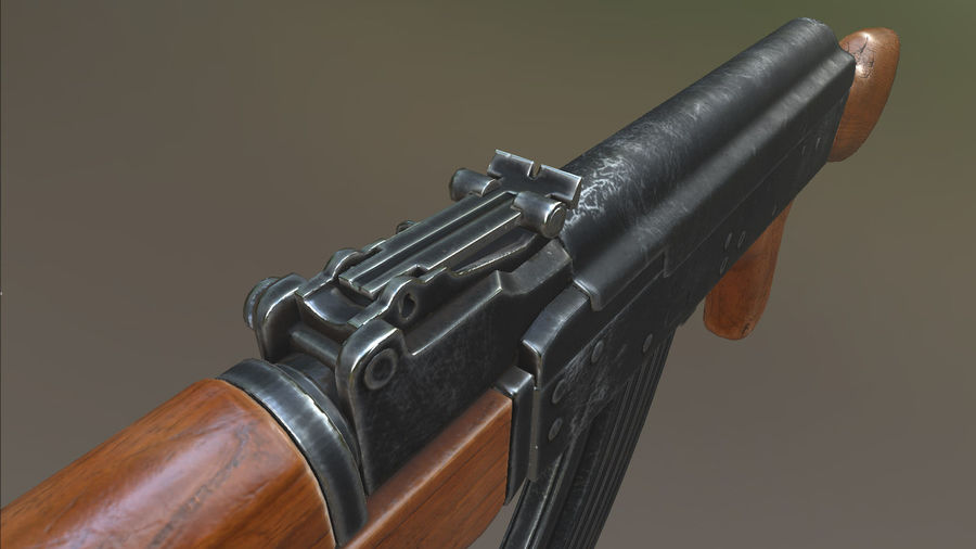 AK-47 royalty-free 3d model - Preview no. 6