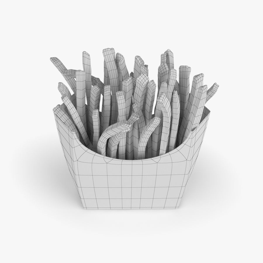 French Fries royalty-free 3d model - Preview no. 5