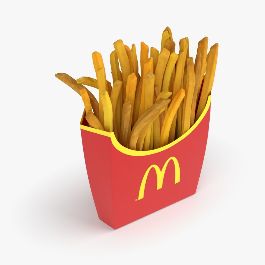 French Fries royalty-free 3d model - Preview no. 3