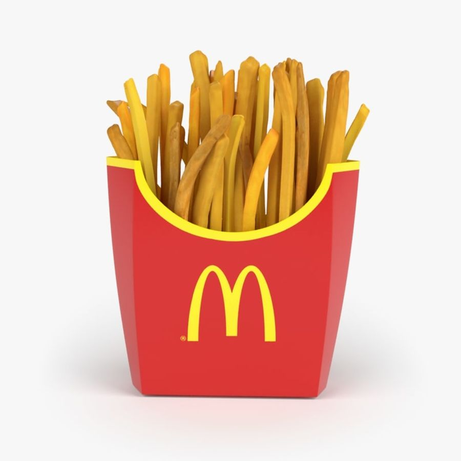 French Fries royalty-free 3d model - Preview no. 1