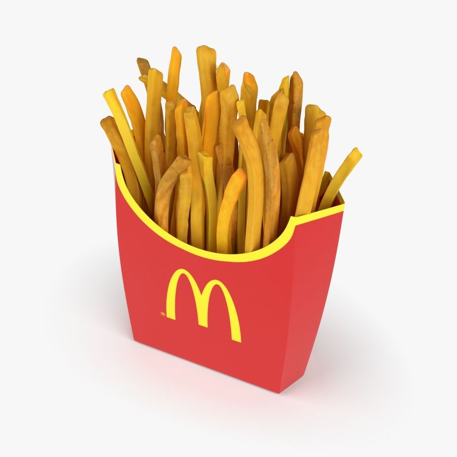 French Fries royalty-free 3d model - Preview no. 2