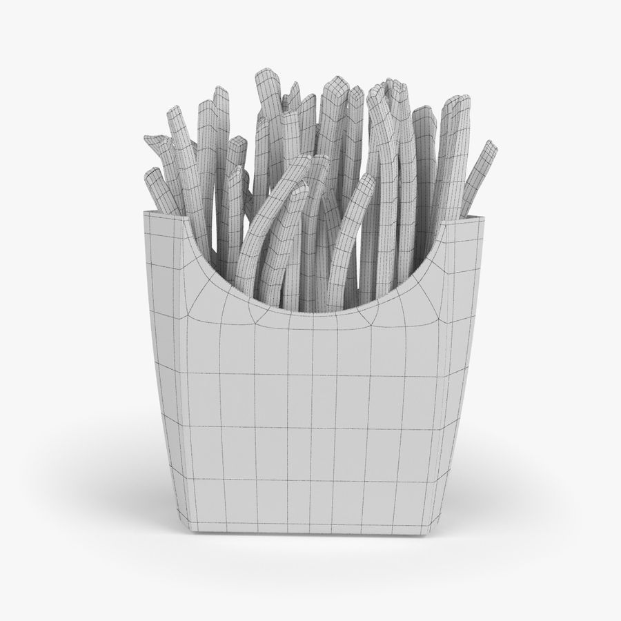 French Fries royalty-free 3d model - Preview no. 6