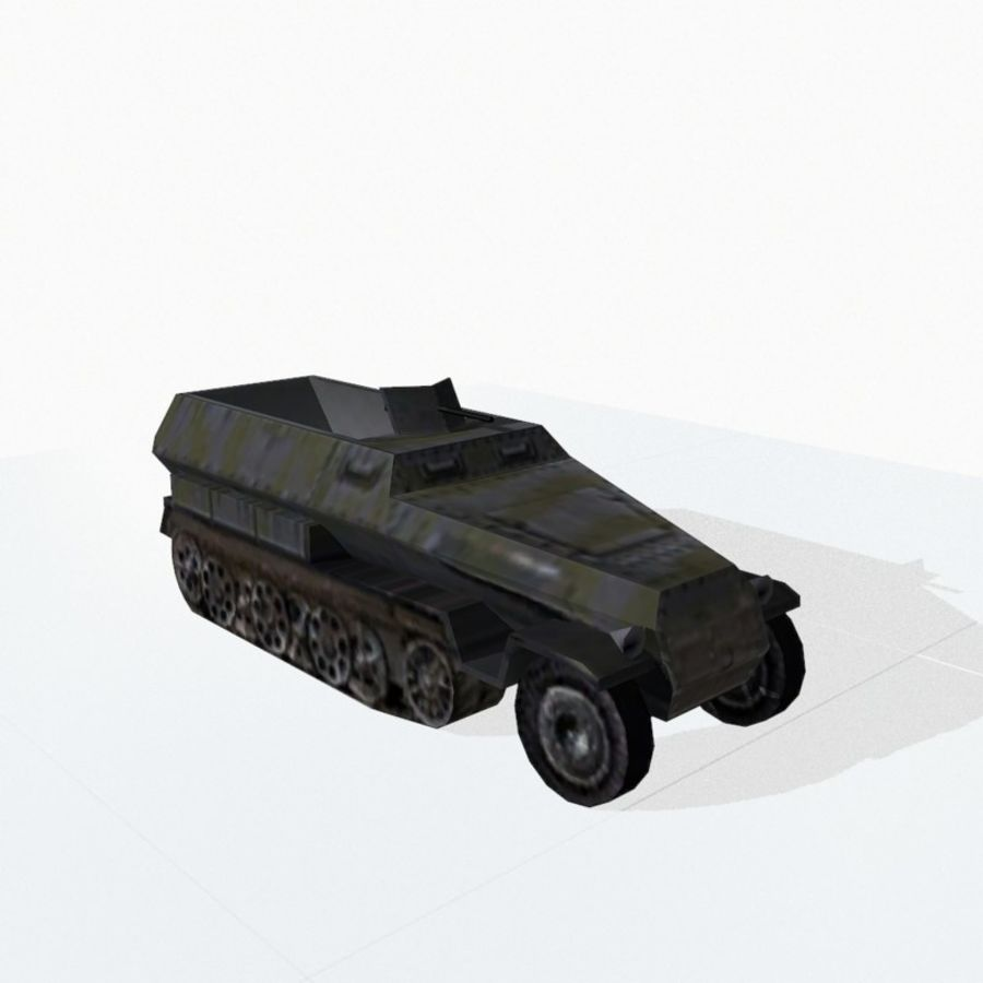 Sd.Kfz.251 royalty-free 3d model - Preview no. 7