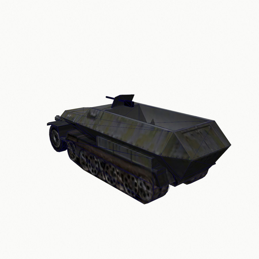 Sd.Kfz.251 royalty-free 3d model - Preview no. 10