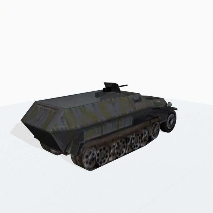 Sd.Kfz.251 royalty-free 3d model - Preview no. 5