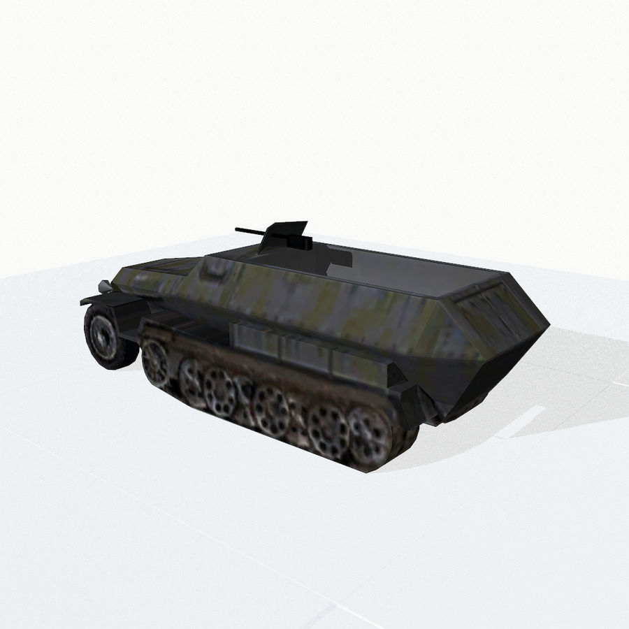 Sd.Kfz.251 royalty-free 3d model - Preview no. 4
