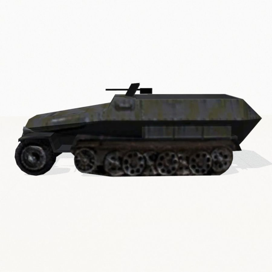 Sd.Kfz.251 royalty-free 3d model - Preview no. 3