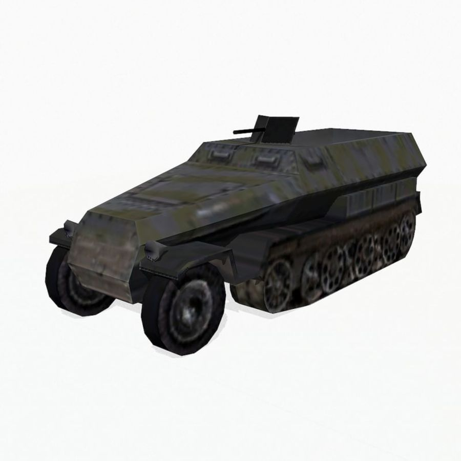 Sd.Kfz.251 royalty-free 3d model - Preview no. 2