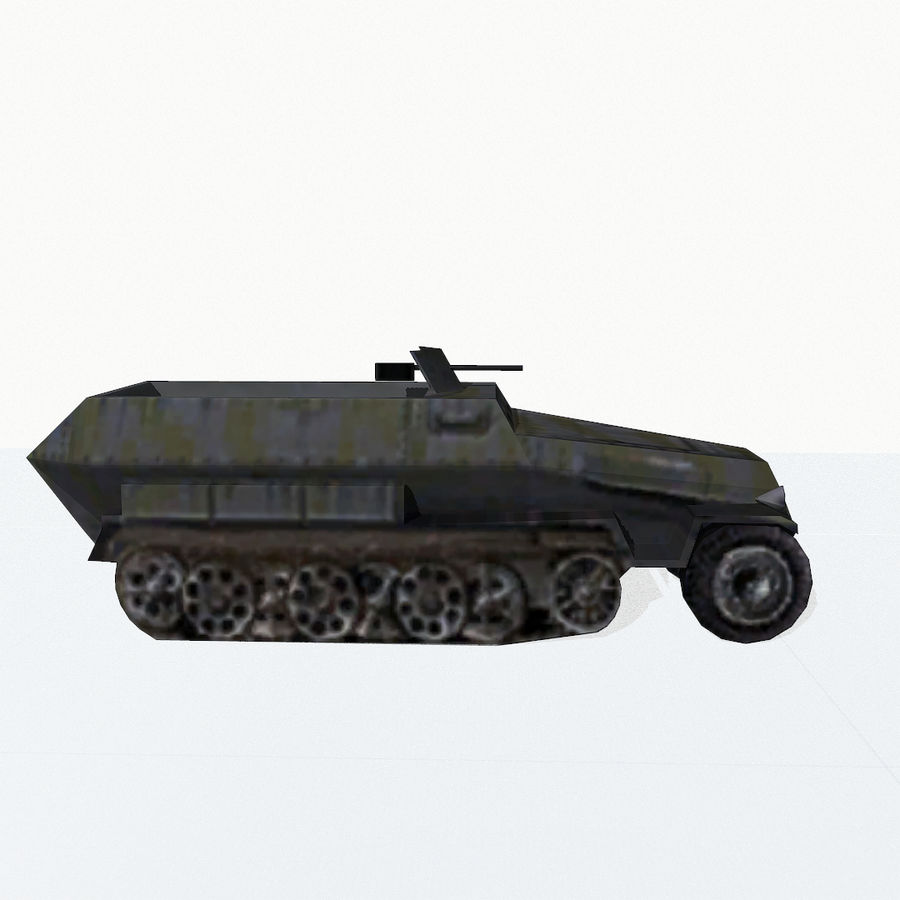 Sd.Kfz.251 royalty-free 3d model - Preview no. 6