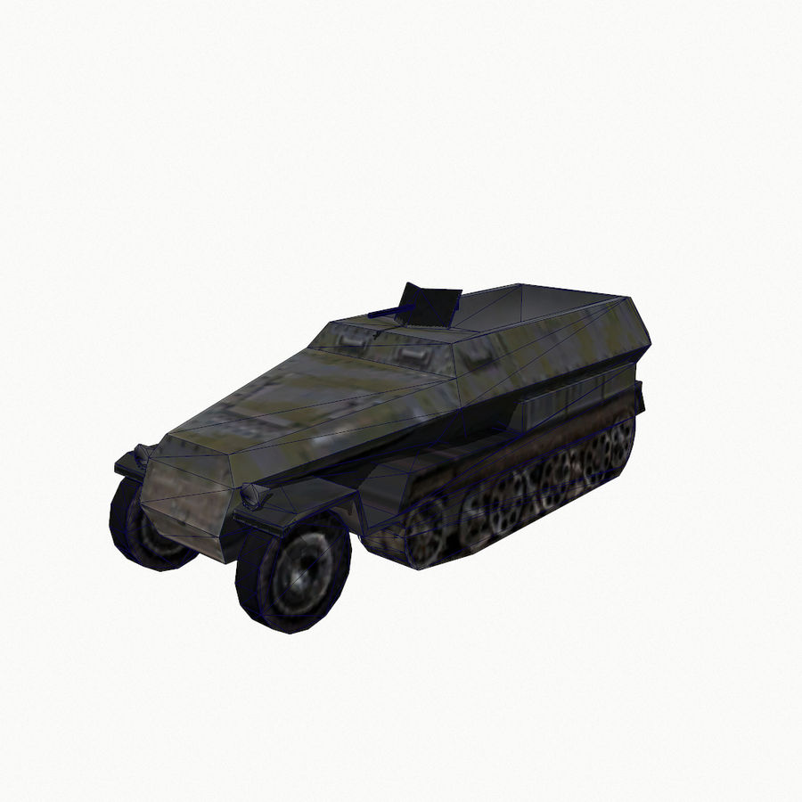 Sd.Kfz.251 royalty-free 3d model - Preview no. 9