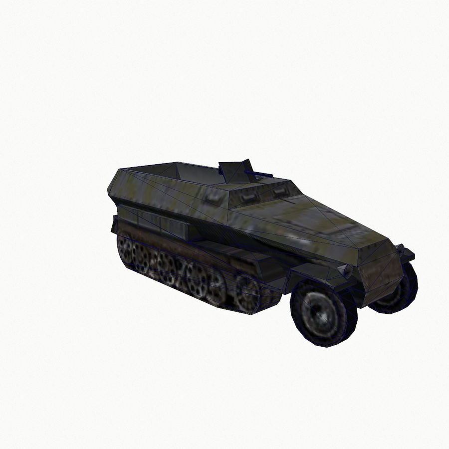 Sd.Kfz.251 royalty-free 3d model - Preview no. 12