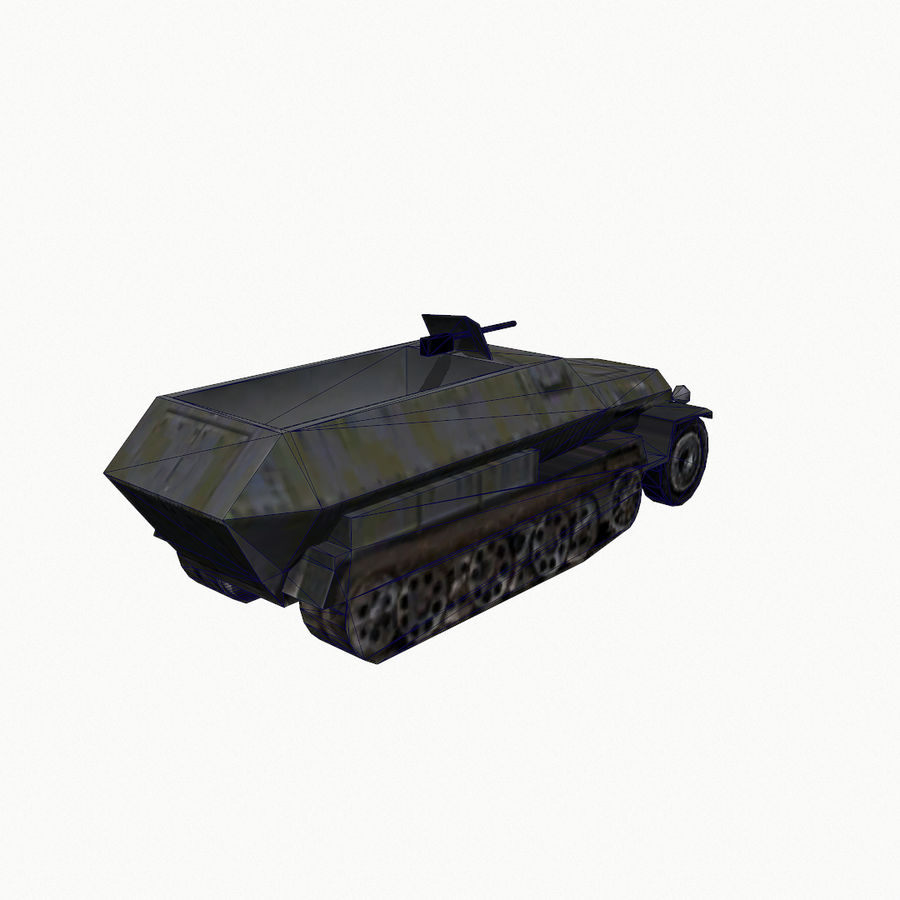 Sd.Kfz.251 royalty-free 3d model - Preview no. 11