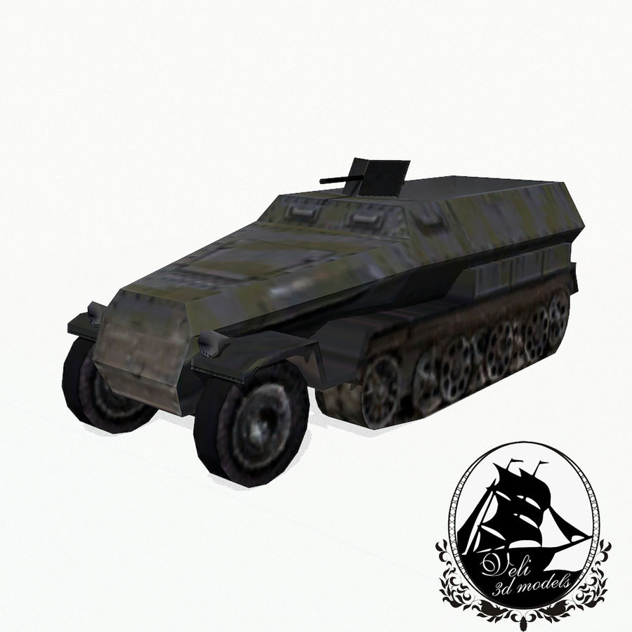 Sd.Kfz.251 royalty-free 3d model - Preview no. 1