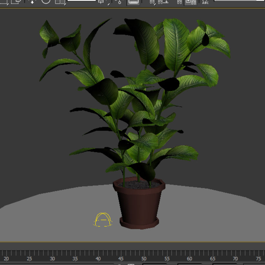 Topf mit Baum royalty-free 3d model - Preview no. 5