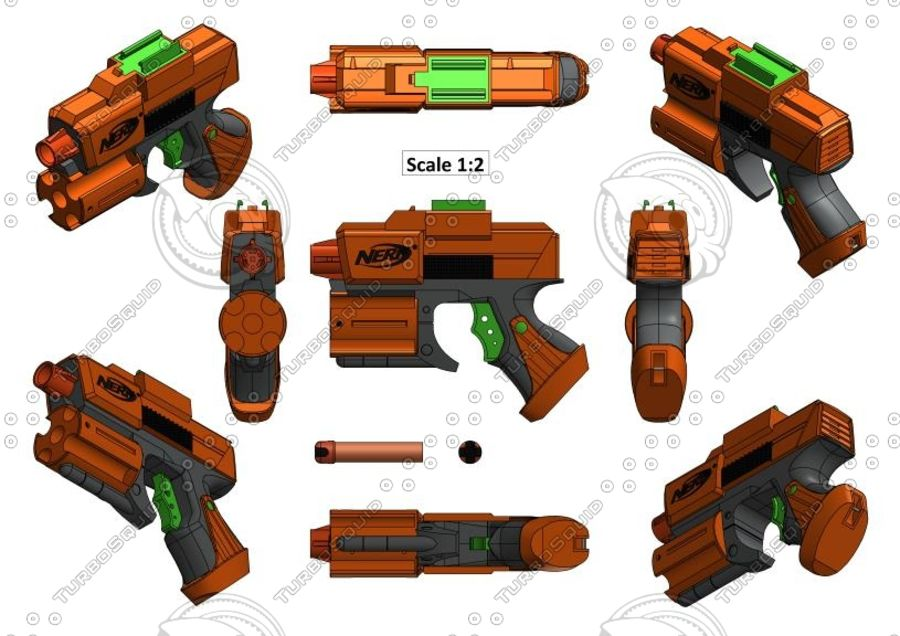 NERF Dart Tag Set royalty-free 3d model - Preview no. 15