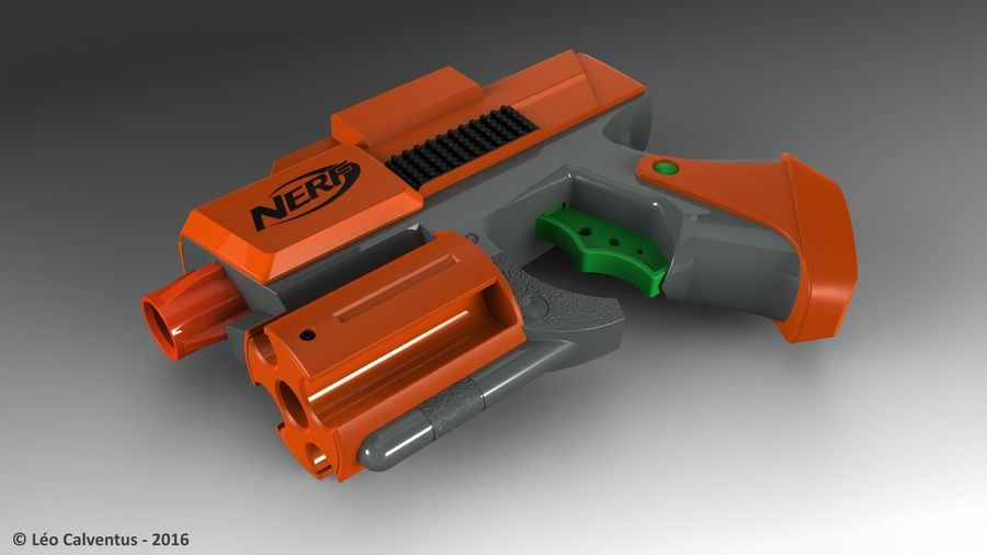 NERF Dart Tag Set royalty-free 3d model - Preview no. 17