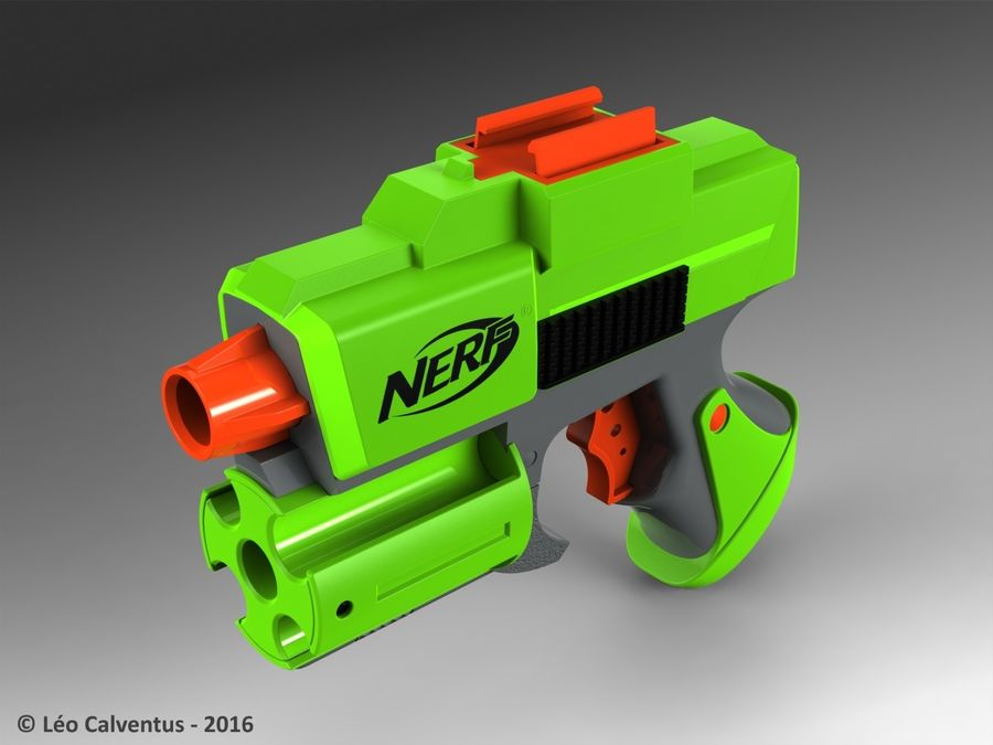 NERF Dart Tag Set royalty-free 3d model - Preview no. 20