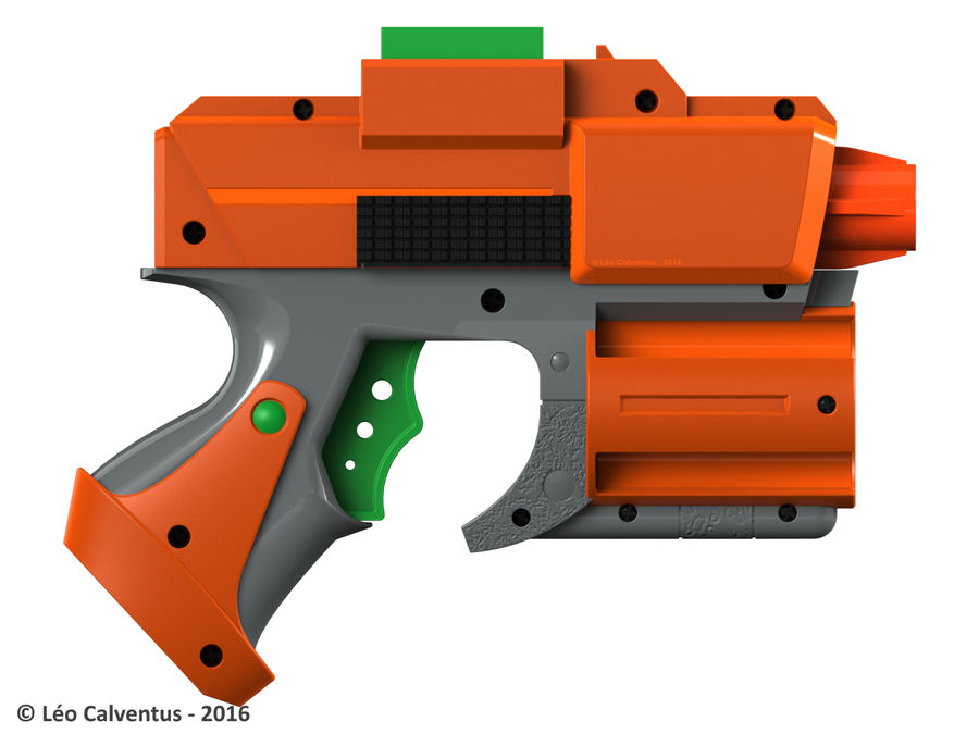 NERF Dart Tag Set royalty-free 3d model - Preview no. 8