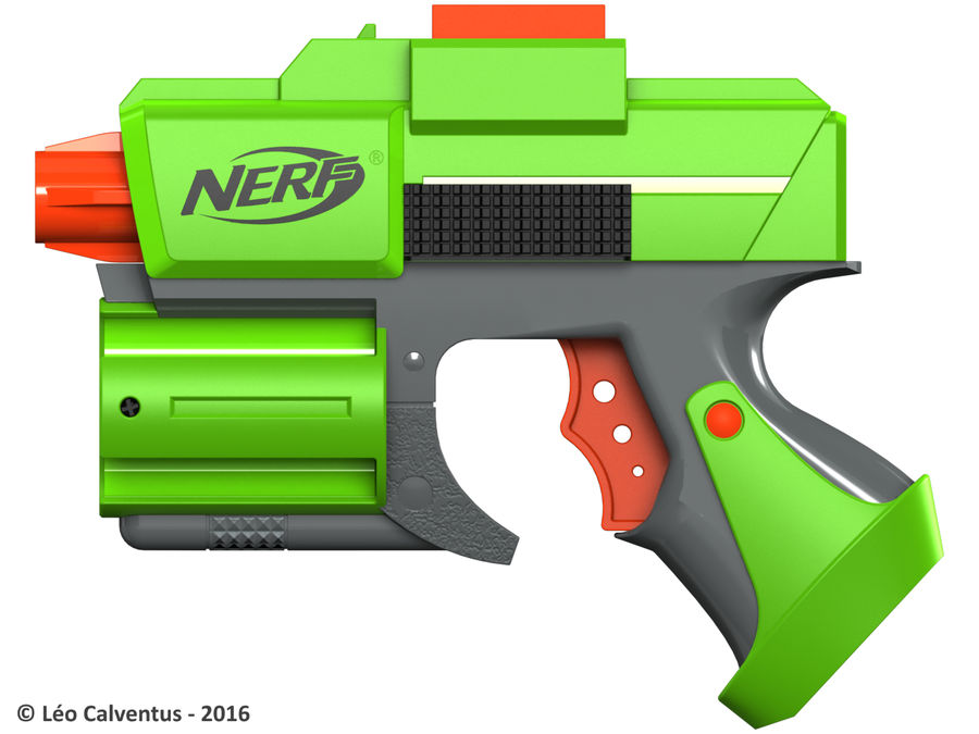 NERF Dart Tag Set royalty-free 3d model - Preview no. 22