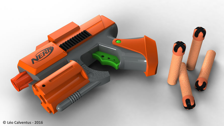 NERF Dart Tag Set royalty-free 3d model - Preview no. 4