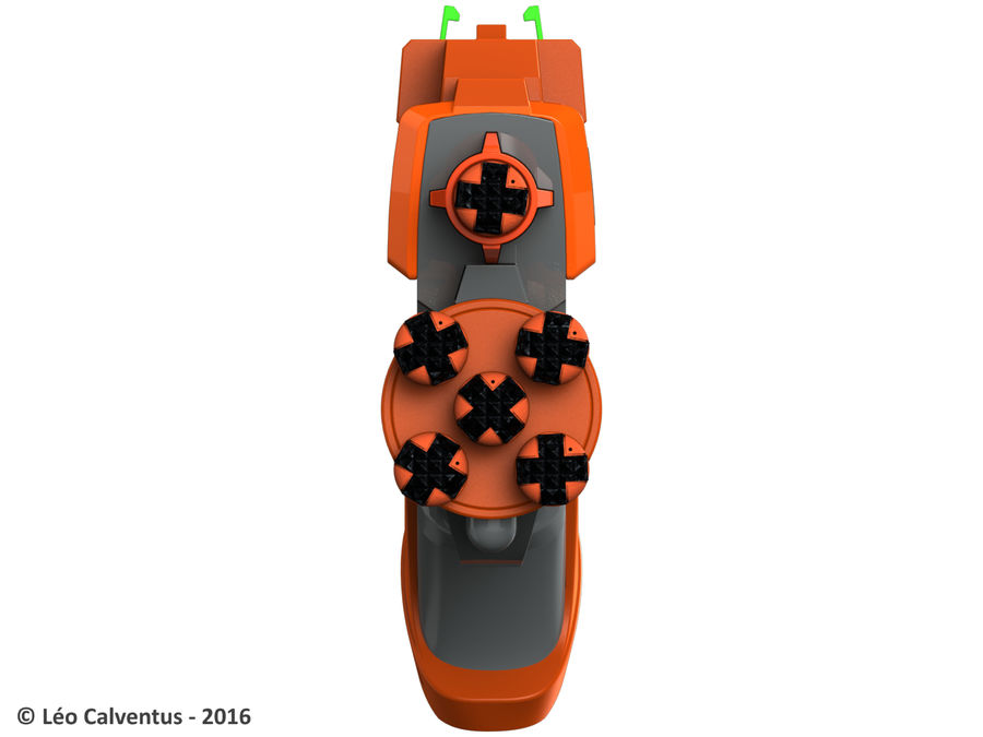 NERF Dart Tag Set royalty-free 3d model - Preview no. 11
