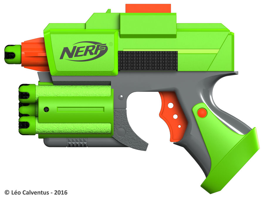 NERF Dart Tag Set royalty-free 3d model - Preview no. 23