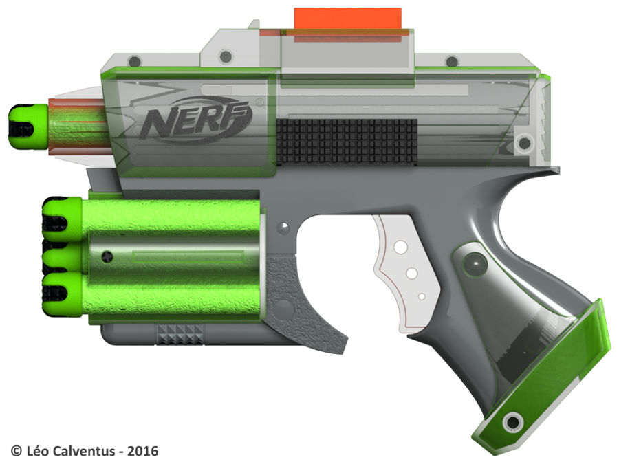 NERF Dart Tag Set royalty-free 3d model - Preview no. 47