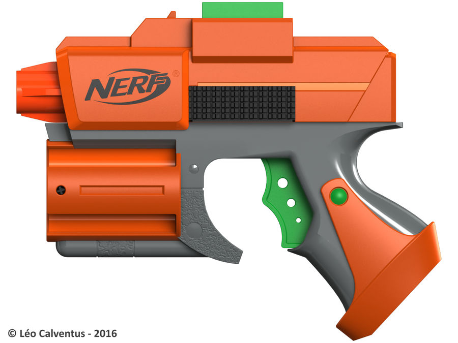 NERF Dart Tag Set royalty-free 3d model - Preview no. 5