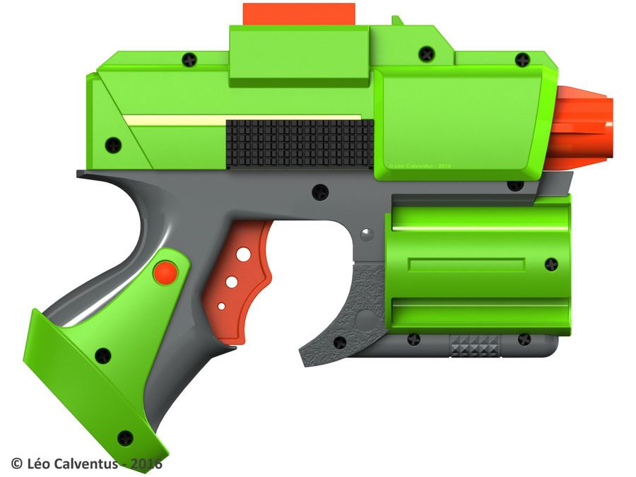 NERF Dart Tag Set royalty-free 3d model - Preview no. 24