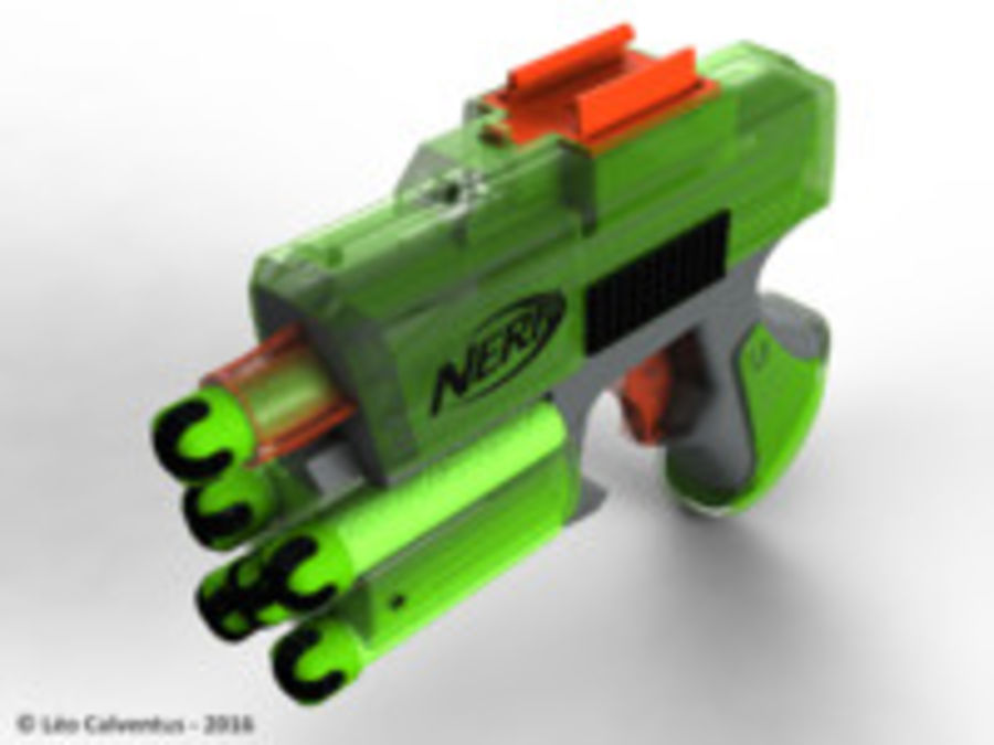 NERF Dart Tag Set royalty-free 3d model - Preview no. 46