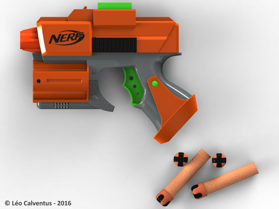 NERF Dart Tag Set royalty-free 3d model - Preview no. 7