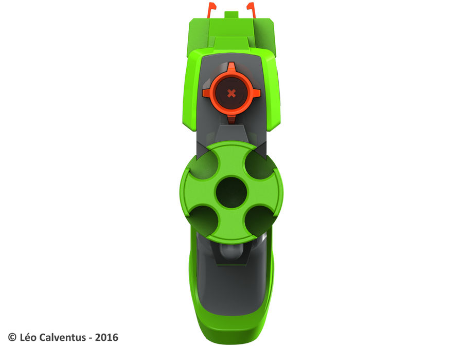 NERF Dart Tag Set royalty-free 3d model - Preview no. 26