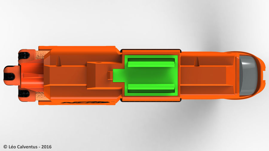 NERF Dart Tag Set royalty-free 3d model - Preview no. 14