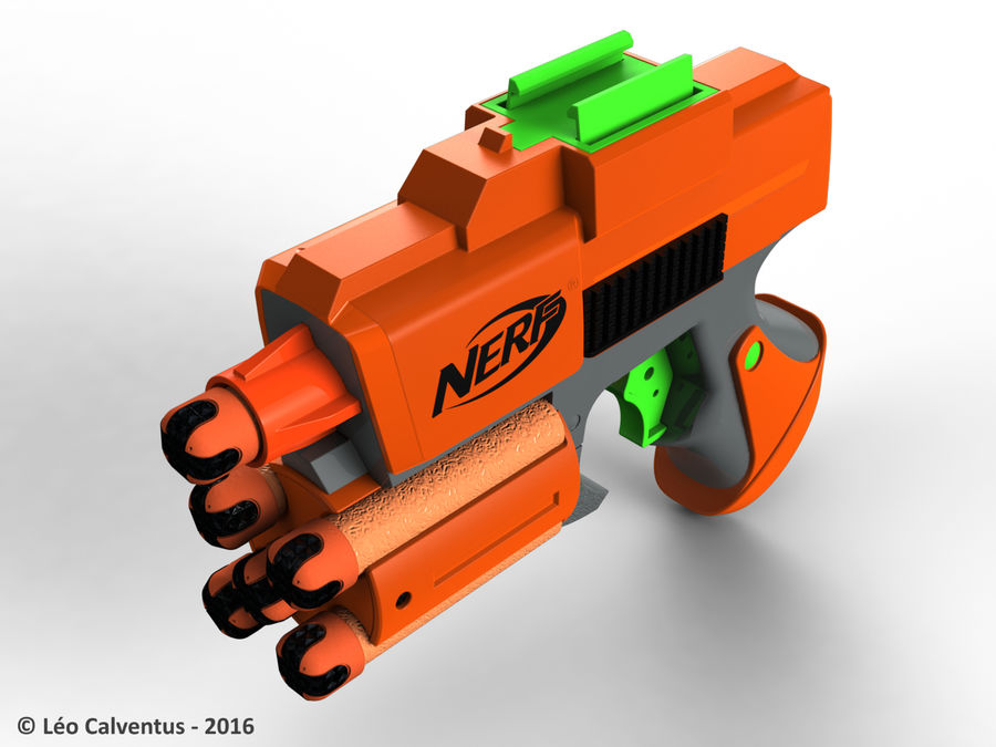 NERF Dart Tag Set royalty-free 3d model - Preview no. 3