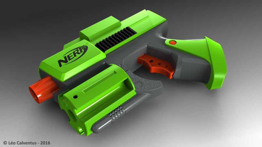 NERF Dart Tag Set royalty-free 3d model - Preview no. 31