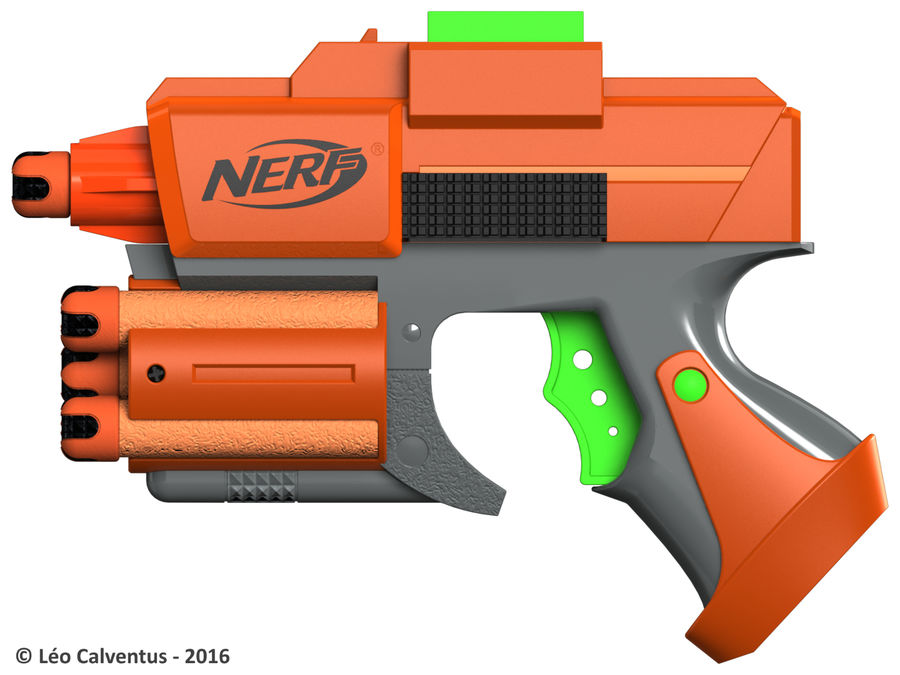 NERF Dart Tag Set royalty-free 3d model - Preview no. 6