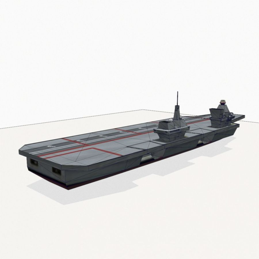 Queen-Elizabeth-class aircraft carrier royalty-free 3d model - Preview no. 15
