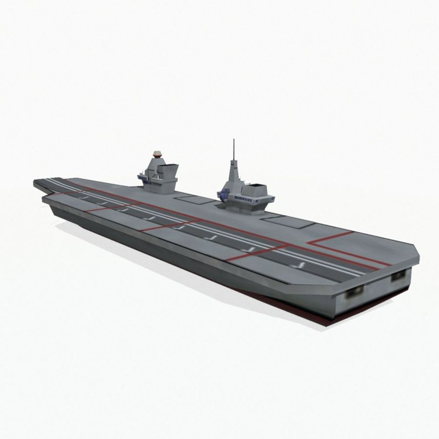 Queen-Elizabeth-class aircraft carrier royalty-free 3d model - Preview no. 6
