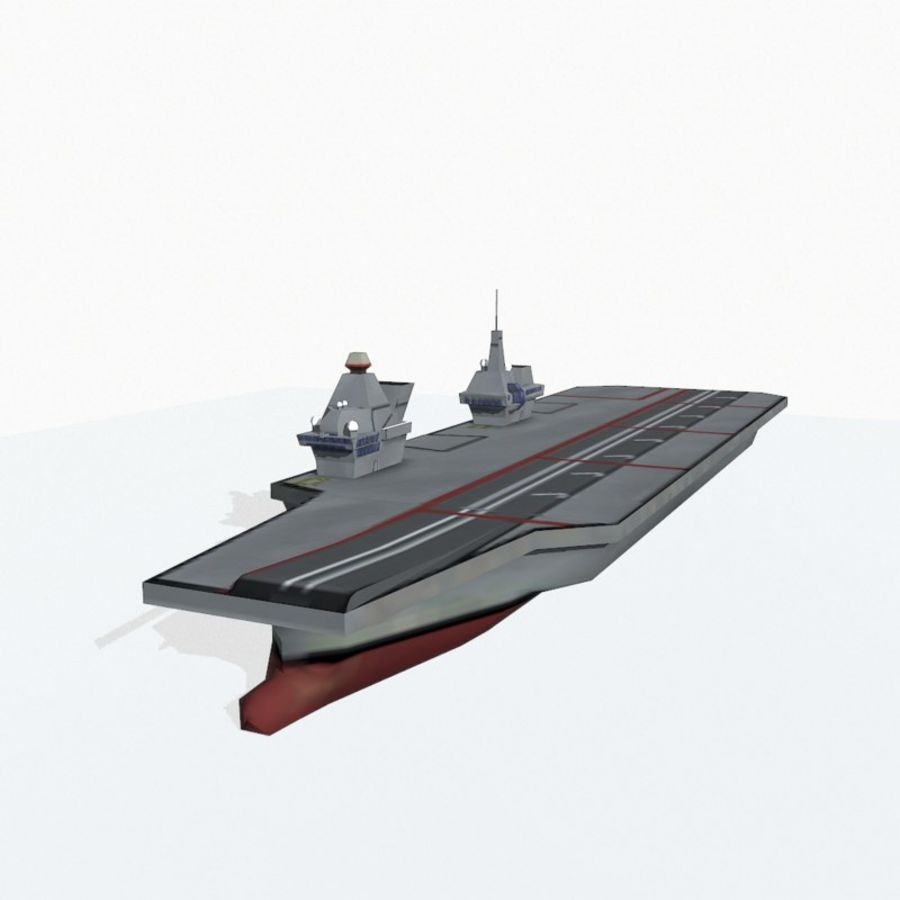 Queen-Elizabeth-class aircraft carrier royalty-free 3d model - Preview no. 7