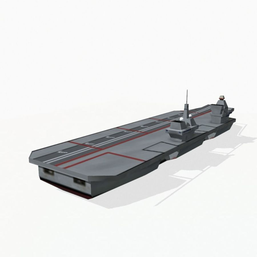Queen-Elizabeth-class aircraft carrier royalty-free 3d model - Preview no. 5
