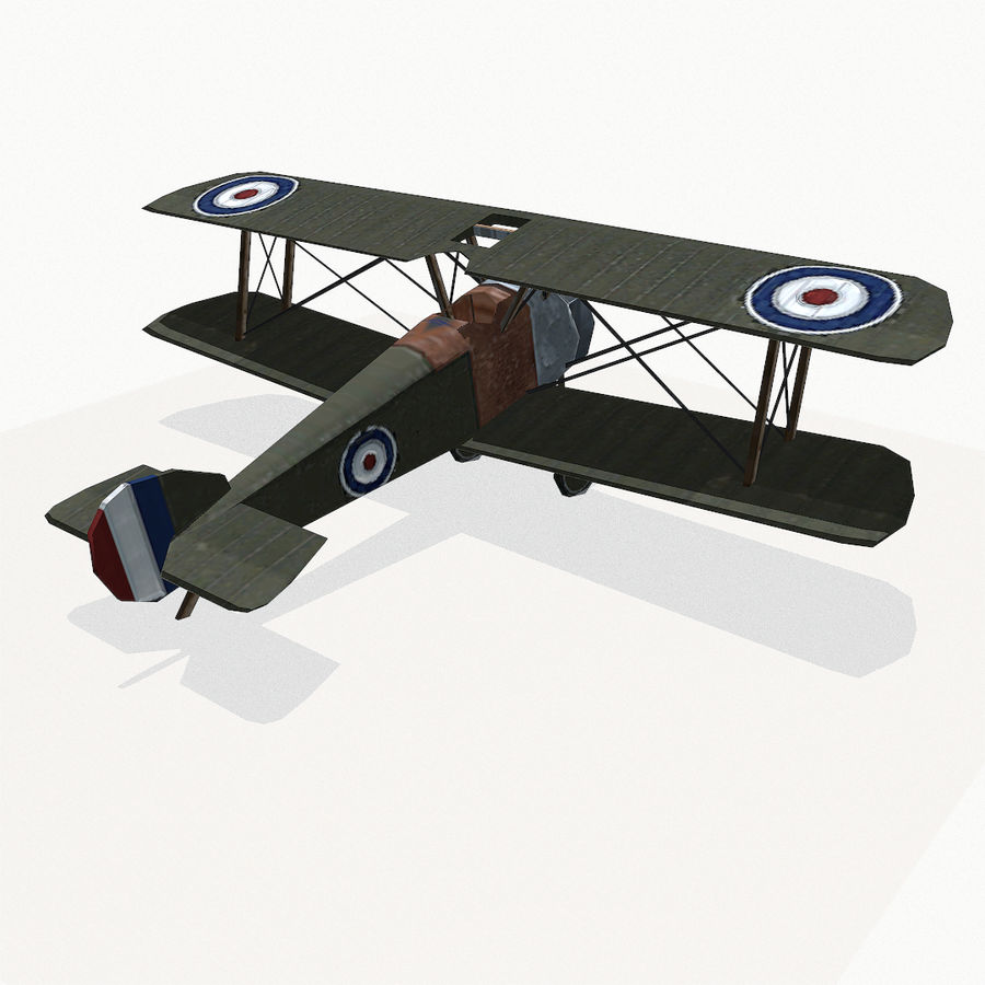 Sopwith Camel royalty-free 3d model - Preview no. 5