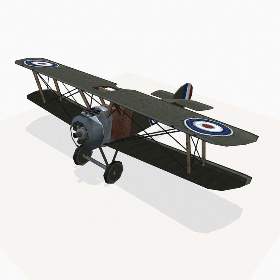 Sopwith Camel royalty-free 3d model - Preview no. 2