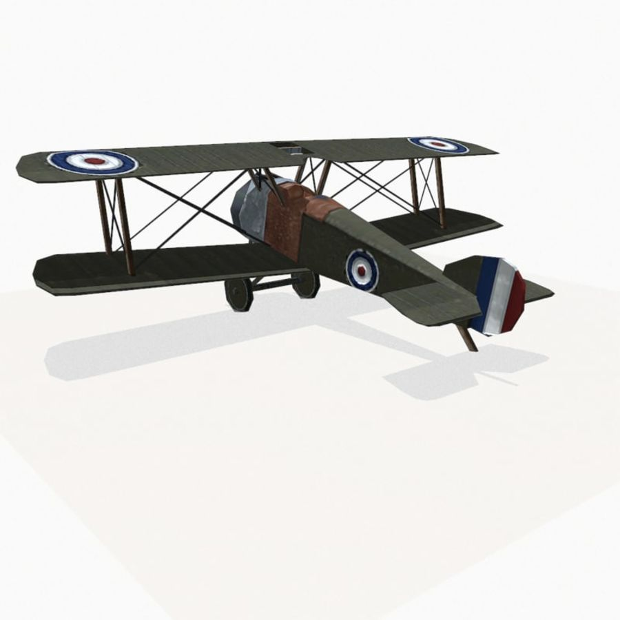 Sopwith Camel royalty-free 3d model - Preview no. 4