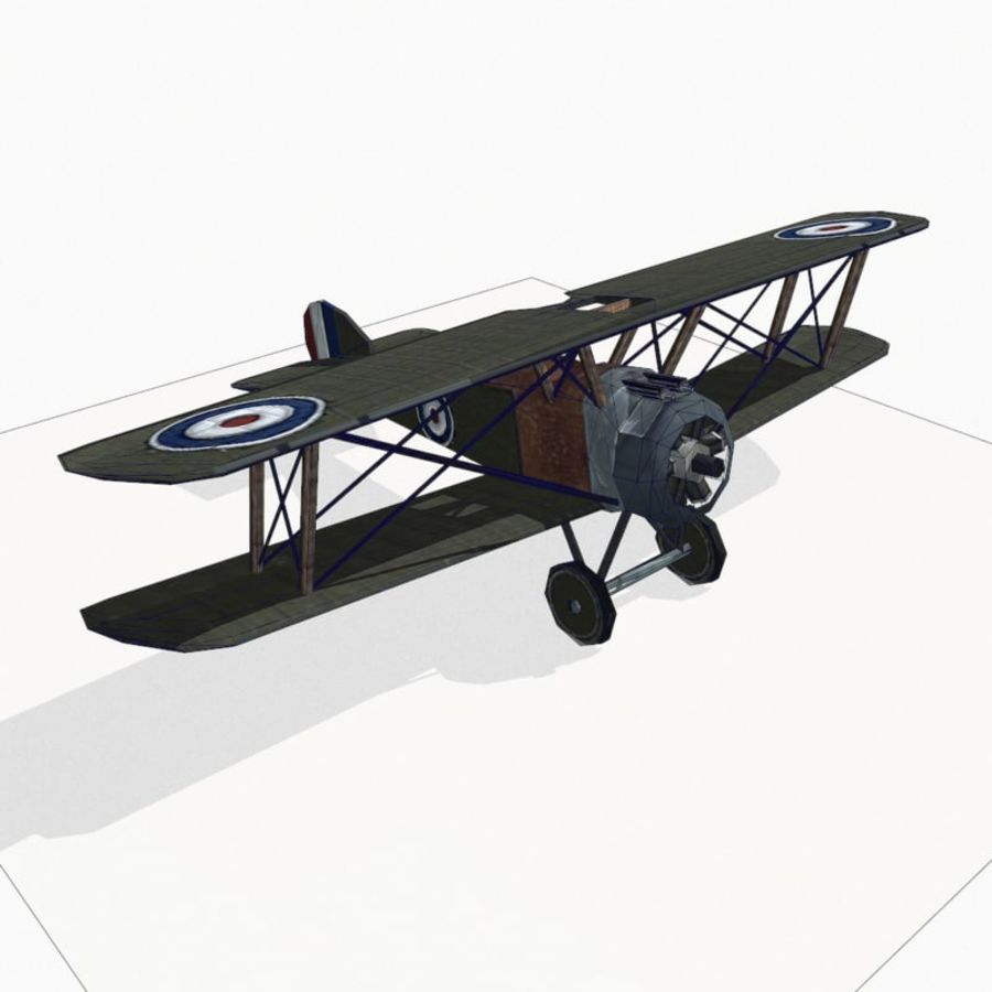 Sopwith Camel royalty-free 3d model - Preview no. 14
