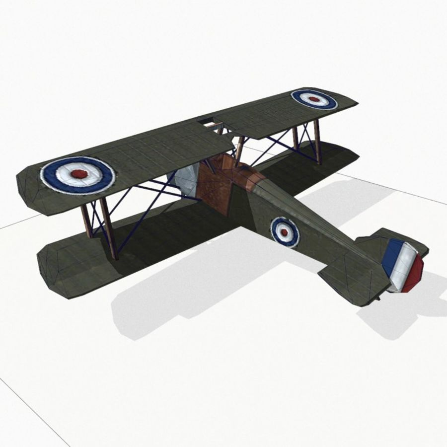 Sopwith Camel royalty-free 3d model - Preview no. 12