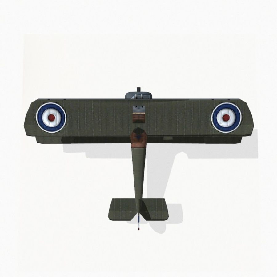 Sopwith Camel royalty-free 3d model - Preview no. 9
