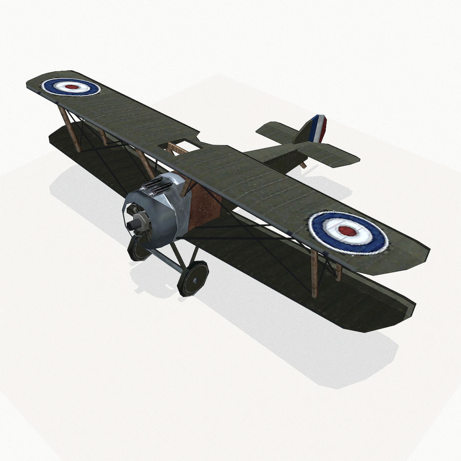 Sopwith Camel royalty-free 3d model - Preview no. 3