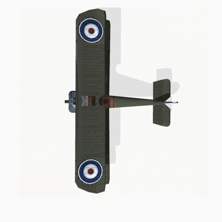 Sopwith Camel royalty-free 3d model - Preview no. 10