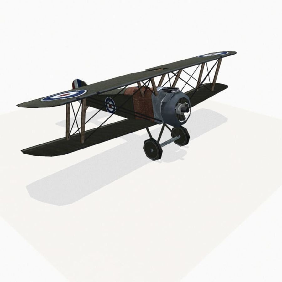 Sopwith Camel royalty-free 3d model - Preview no. 6